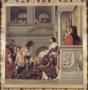 Graaf Willem II verleent het handvest aan het Hoogheemraadschap van Rijnland