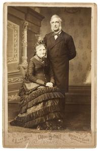 Portret van Johan Drabbe (1814-1885) en Jeannette Hermantine Lux (1813-1891)