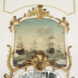 Winters zeegezicht met schepen