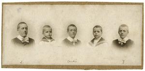 Portret van de zoons van Felix Hendrik August Driessen (?-?)