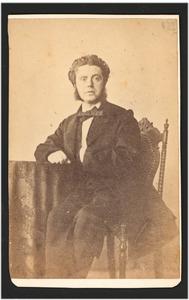 Portret van de schilder P.L.L. Oerder (1823-1863)