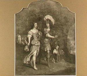 Portrait historié van Jacob Schimmelpenninck van der Oye en Jacoba Emilia van Westerholt als 'Dido en Aeneas'