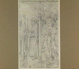 Bisschop, de Heilige Jacobus Major, de aartsengel Michaël en stichtster (fragment van een grotere compositie)
