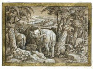 Olifantenjacht door Troglodieten