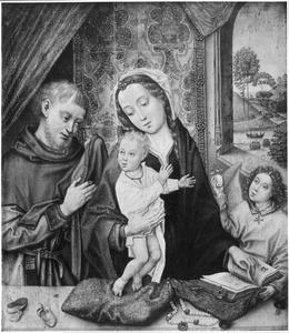 De H. Familie met een engel