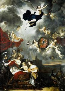 Allegorie op de geboorte en de dood van Wilhelm Heinrich, keurprins van Brandenburg (1648-1649)