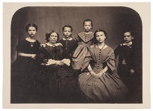 Portret van Justina Susanna Schaap (1814-1868) en haar gezin