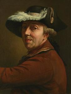 Zelfportret van Johann Georg Rosenberg (1739-1808)