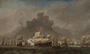 Het gevecht van Michiel Adriaensz de Ruyter tegen de hertog van York op de 'Royal Prince' tijdens de zeeslag bij Solebay, 7 juni 1672: episode uit de Derde Engelse Zeeoorlog (1672-74)