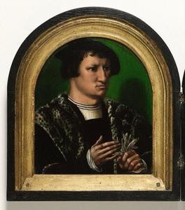 Portret van Cornelius de Schepper (1502-1554) (achterzijde: heraldisch wapen)