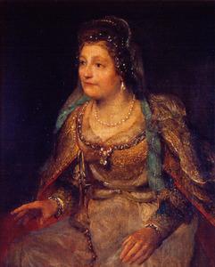 Vrouwelijk figuur in oud-testamentaire kleding, traditioneel Ester genaamd