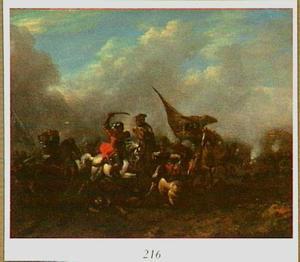 Ruitergevecht tussen Turken en westerlingen