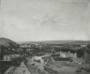 Panoramalandschap met zicht op Syon House aan de Theems