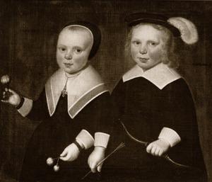 Portret van een onbekend meisje en een onbekende jongen