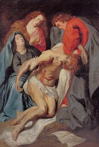 De kruisafneming en bewening van Christus