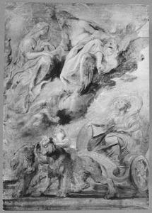 De ontmoeting van Hendrik IV (1553-1610) als Jupiter en Maria de' Medici  Maria de' Medici (1575-1642) als Juno te Lyon