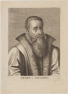 Portret van Petrus Peck (1529-1589)
