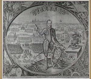 Landing van Prins Maurits (1567-1625) bij Philippine op weg naar Nieuwpoort, in 1600