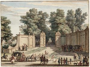 De hoofdingang van het Huis Heemstede bij Houten