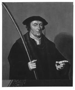 Portret van Pieter Claesz. Paling (....-1546), echtgenoot van Josina van Foreest