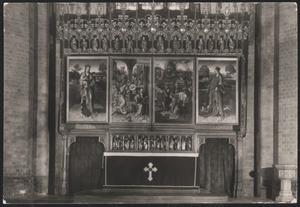 Maria met Kind; De annunciatie, de presentatie van Maria in de tempel en het huwelijk van Maria en Jozef; Het martelaarschap van de H. Catharina; De H. Catharina