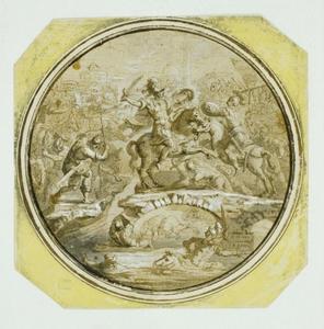Horatius Cocles vechtend op de Pons Sublicius