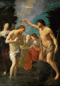 De doop van Christus in de Jordaan door Johannes de Doper