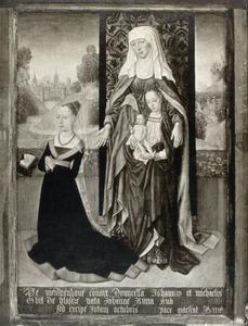 De H. Anna-te-Drieën met stichtersportret van Anna van Nieuwenhove