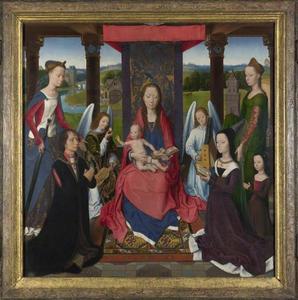 Maria met kind, de HH. Catharina en Barbara, en John Donne of Kidwelly en zijn familie