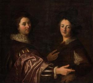 Portret van twee vrienden