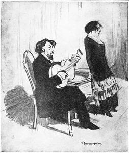 Koos Speenhoff en zijn vrouw tijdens een optreden