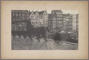 Kar met paarden op brug