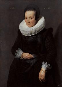 Portret van een onbekende 57-jarige vrouw