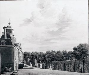 Gezicht op de voorzijde van het huis Spieringshoek bij Schiedam