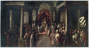 De kroning van Ester door Ahasveros (Ester 2:17)