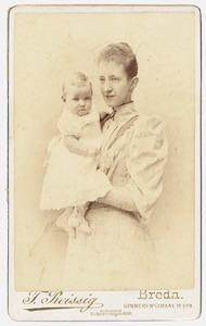 Portret van Sophie Marie Henriette van Ittersum (1867-1932) en Willem van Tets (1894-...)