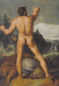 Hercules met enige verslagen dieren