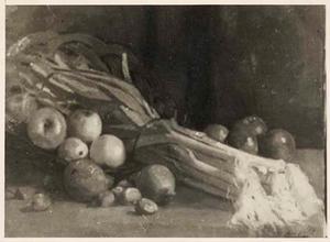 Stilleven met groenten en vruchten
