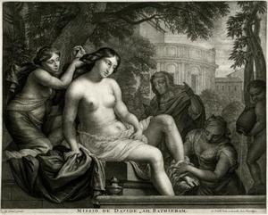 Het toilet van Batseba; in de achtergrond David op het balkon
