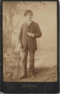 Zelfortret van Hermanus Arnoldus Mens (1855-1926)