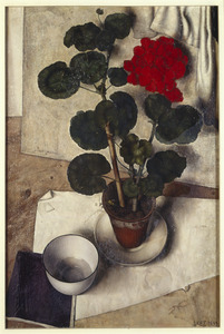 Stilleven met geranium