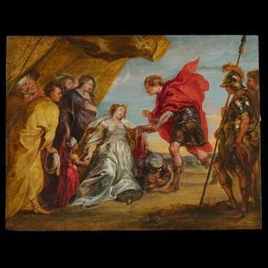 Alexander de Grote bezoekt de familie van Darius