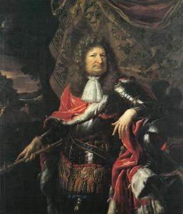 Portret van Friedrich Wilhelm von Hohenzollern, de Grote Keurvorst, als krijgsheer