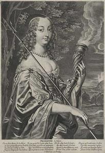 Portret van Maria Ludovica Gonzaga (1611-1667), vrouw van twee heersende koningen, als Proserpina