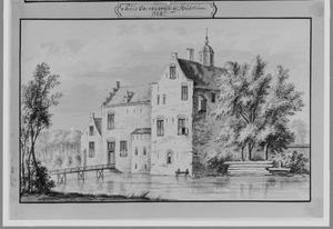 Voor- en rechterzijde van Oosterwijk bij Leerdam anno 1724