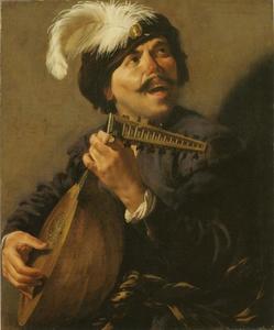 Luit spelende man