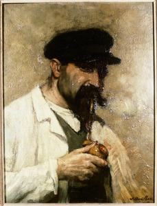 Portret van aan man, waarschijnlijk Willem Matthijs Maris (1872-1929)