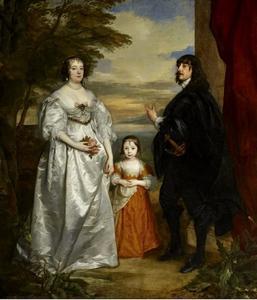 Groepsportret van James Stanley, Lord Strange (1607-1651), Charlotte de La Trémoille (1599-1664) en Lady Henrietta Maria Stanley (1630-1685)
