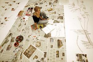 Jasmijn Visser in haar atelier