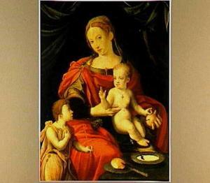 Maria met kind en Johannes de Doper als kind